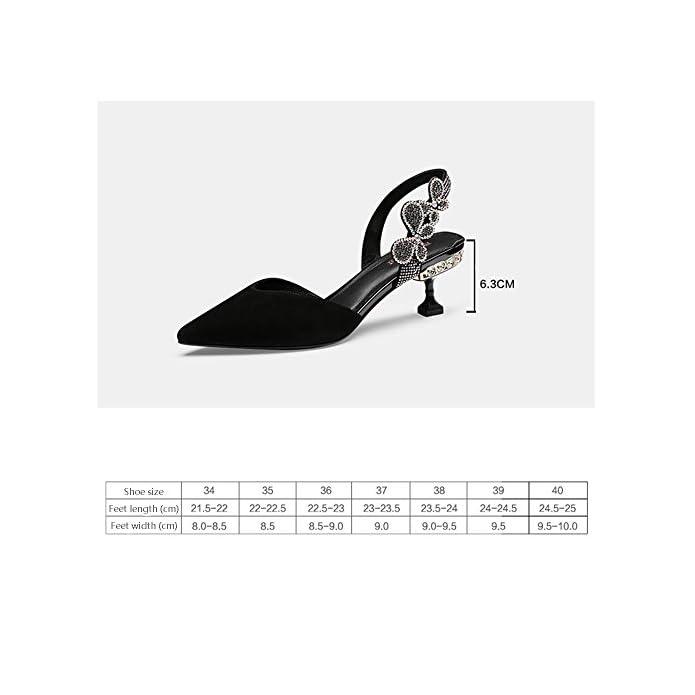Sandali Gyhddp Tacco Medio A Vita Bassa Da Donna Spillo Ciabatte Estive Moda colore Nero Dimensioni 37