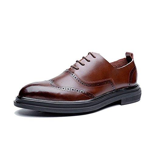 Xujw-shoes, 2018 Scarpe Stringate Basse Scarpe casual da uomo modello oxford con tacco piatto tinta unita (Color : Marrone, Dimensione : 42 EU) Marrone