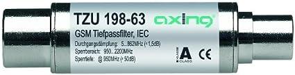 Axing TZU 198-63 - Filtro de paso bajo para DVB-T (5-862 MHz, conectores coaxiales)