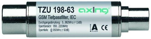 Axing TZU 198-63 - Filtro de paso bajo para DVB-T (5-862 MHz, conectores coaxia