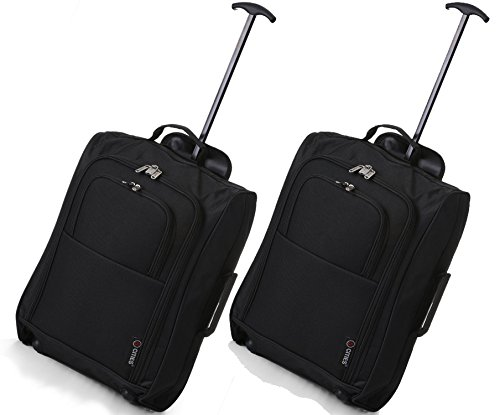 5-cities-the-valencia-collection-hand-luggage-42-liters-plain-black-set-of-2