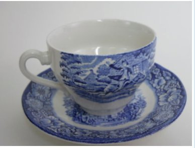(Liberty Blue China Blue and White Transferware Coffee Cup and Saucer Made in England)