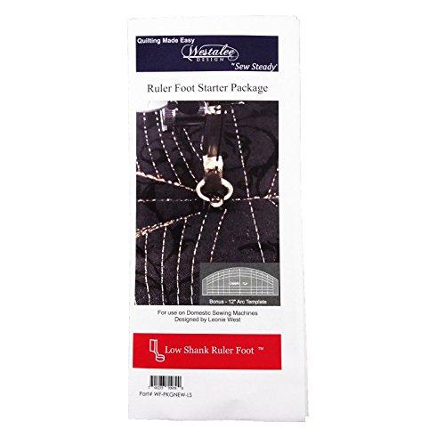 Westalee Sew Steady Ruler Foot Starter Package Low Shank ()