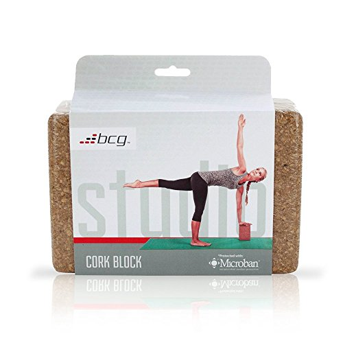 Masté Brick Cork Yoga Block Perfect postures and stretching, solid cork design with MICROBAN antimicrobial protection. ECO FRIENDLY The natural texture provides traction measurement 9