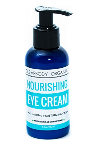 Best Anti-Aging Eye Cream For Puffiness, Dark Circles, Wrinkles & Bags (3.4oz) ALL NATURAL With Anti-Aging Vitamin E, Organic Aloe & Hyaluronic Acid, Made With Organic Ingredients- For Women & Men