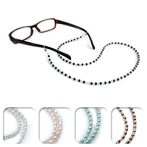 Kalevel Eyeglass Chain Holder Glasses Strap Eyeglass Chains and Cords for Women (Black)