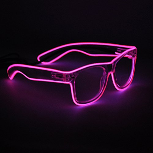 Generic EL Wire Rave Sunglasses LED Light Up Party - That Light Up Sunglasses