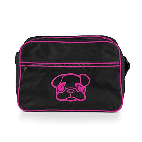 Noir Mops rose Retro Me Bag qwnxBH1Pf
