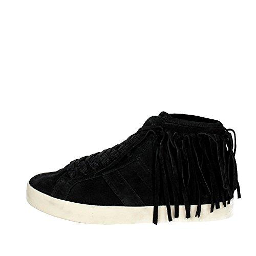 D.A.T.E. Hill HIGH-30I Haute Sneakers Femme Noir
