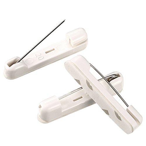 50 Pack Self Adhesive (Bememo 50 Packs Adhesive Back Safety Bar Pins Badge Crafting Parts, 1.5 Inch)