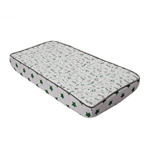 Bacati Soccerball Green/Grey Muslin Quilted Changing Pad Cover