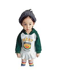 Theshy Children Kids Baby Girl Letter Cartoon Print Hooded Pullover Tops
