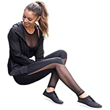 VIASA Women Fitness High Waist Mesh Patchwork Leggings Skinny Push Up Yoga Pants