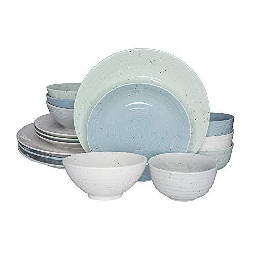 (Siterra Mixed 16 Piece Dinnerware Set)