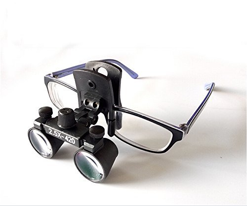 Doc.Royal Surgical Medical Binocular Clip Loupes Lab Head Magnifier w/Clip-on 2.5X420mm DY-109 by Doc.Royal (Image #6)