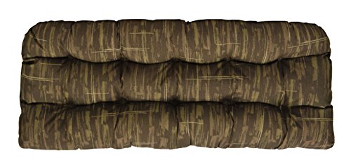 RSH Décor Indoor/Outdoor Wicker Chair Cushion Loveseat Brown Camouflage
