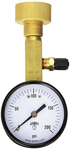 Precision Test Gauge (Winters AOM-204TM Air Over Water Test Gauge, 1/4