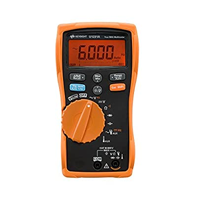 Keysight Technologies U1231A True RMS 6000 Count Handheld Digital Multimeter, Basic