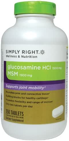 Member's Mark Glucosamine Hcl 1500 Mg with Msm 1500 Mg, Tablets, 350-Count
