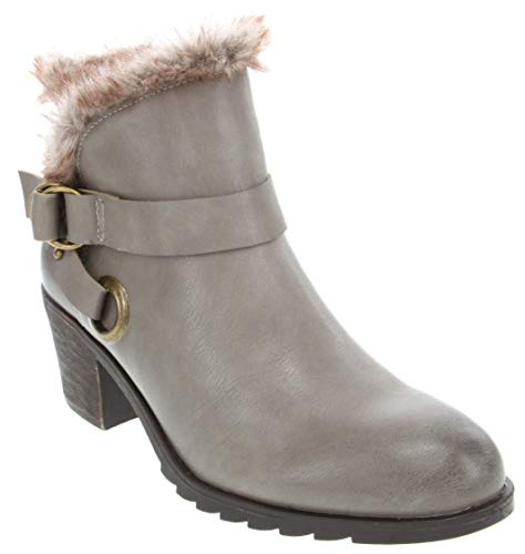 London Fog Womens Highland Warm Lined Bootie Taupe 7.5