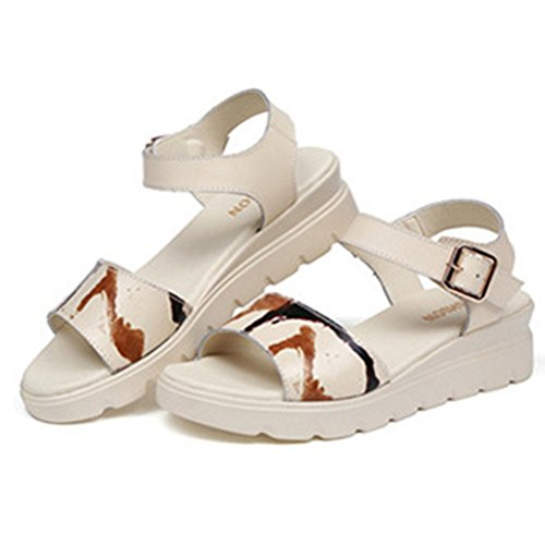 サンダル レディース カジュアル 厚底靴 美脚 ウェッジソールサンダル ストラップ 疲れない おしゃれ 5cmヒール シンプル 歩きやすい