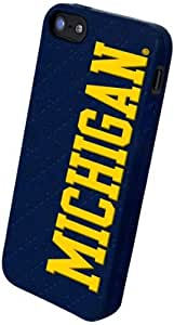 Forever Collectibles NCAA Michigan Wolverines Silicone Apple iPhone 5 / 5S Case