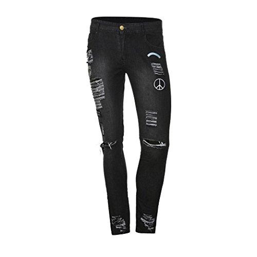 Insignia Slim Pantalón Pitillo Fit Rotos Skinny Jeans Gris Pantalones Pantalones Hombres Personalidad de Casuales Vaqueros STRIR Agujero oscuro Elasticos Originales twx7naXq