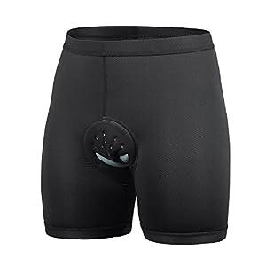 Baleaf Men's 3D Padded Cycling Mesh Breathable Underwear Shorts Black Size XL