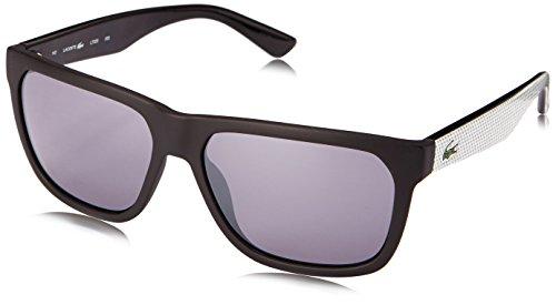 - Lacoste L732S Wayfarer Sunglasses, Black/Grey, 56 mm