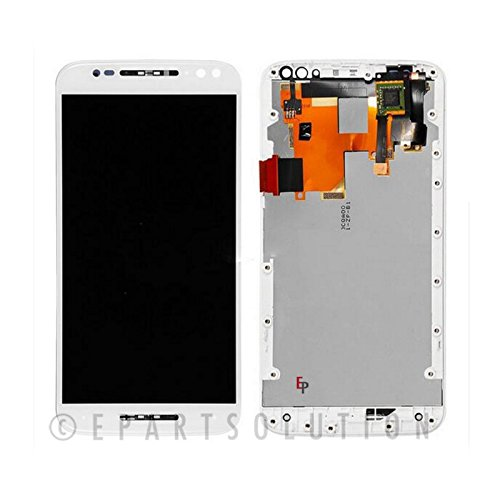 ePartSolution_OEM Motorola Moto X Pure Edition XT1575 LCD Display Touch Screen Digitizer + Frame Assembly Replacement Part USA Seller (White) (554 Replacement)