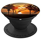 Palm Trees Sunset - PopSockets Grip and Stand for Phones and Tablets