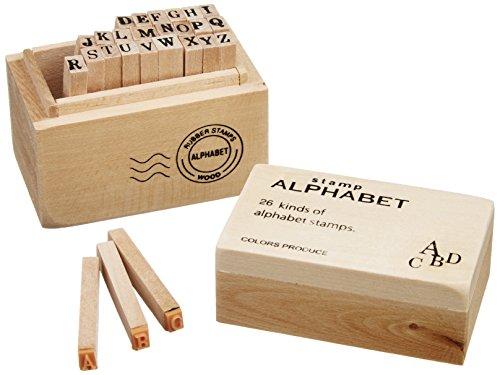 Wood stamp set box stamp alphabet S cute Maruwa trade (japan import)