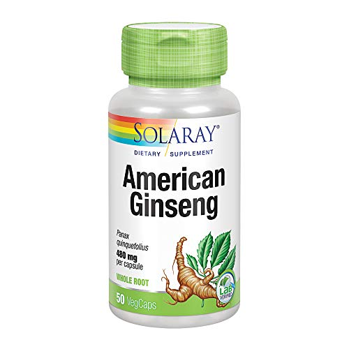 Solaray American Ginseng Root Capsules, 480 mg, 50 Count