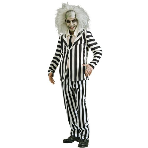 Beetlejuice Costumes For Adults (Deluxe Beetlejuice Adult Costume - X-Large)