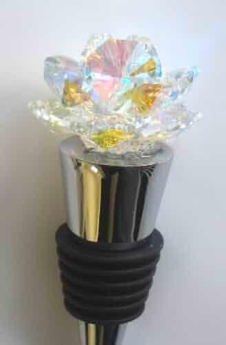 b4c429c74 Arora Borealis Crystal Rosebud Wine Stopper - House Gift - Handcrafted By  Bjcrystalgifts Using Swarovski Crystals