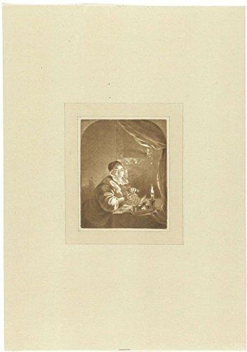 classic-art-poster-lady-candlelight-cornelis-ploos-van-amstel-1736-1798-17-x-24
