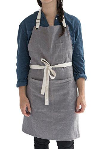 Mens Womens Linen Apron Kitchen product image