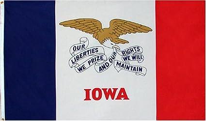 IOWA US STATE FLAGS IOWA FLAG Size 5x3 Feet