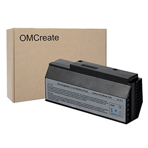 OMCreate Battery for ASUS G73JW G73SW G73J, Fit P/N A42-G73 - 12 Months Warranty [Li-ion 8-Cell]