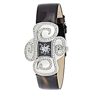 Christian Bell Women's Black Dial Leather Band Watch - 1811