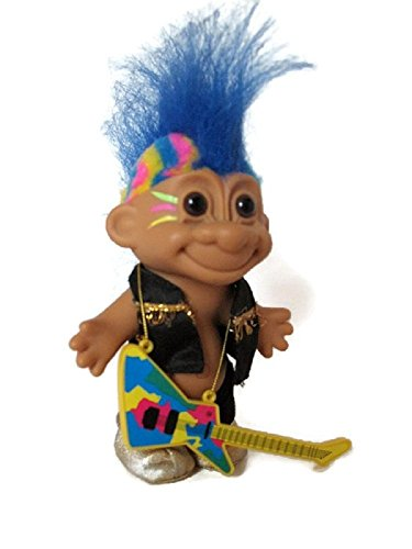 (Russ Troll Punk Rocker Rock Star with Mohawk and Guitar)
