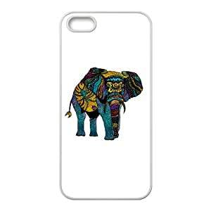 iPhone 5 5s Cell Phone Case White Elephant of Namibia Color TDA Phone Case For Men Generic