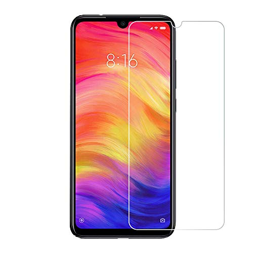 [2 Pack] for xiaomi redmi Note 7 Pro Tempered Glass Screen Protector with 2.5D Round Edge Ultra Thin Shatter-Proof and Bubble Free Anti-Scratch
