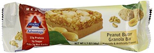 Atkins Advantage Peanut Butter Granola Bar, 1.7 Ounce Bars, 5 Count