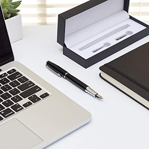 AmazonBasics Refillable Fountain Pen - Fine Point, Black Ink