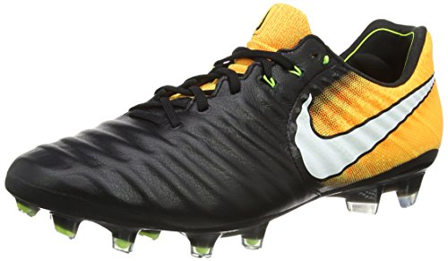 NIKE MEN'S TIEMPO LEGEND VII FG - (Black/Laser Orange/Volt/White) (8.5) - Nike Mens Tiempo Legend