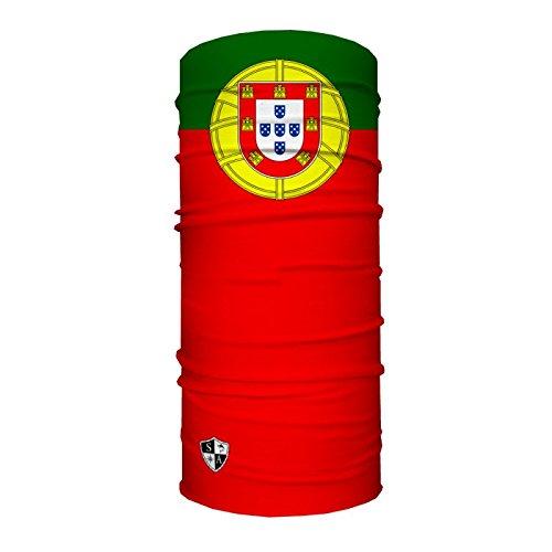 SPF 40. SA Company Portugal Flag Design Fishing, Running, Cycling, Motorbike, Walking, Riding etc Multi-Functional Headwear//Scarf Face Shield//Headband//Loop Scarf//Bandana//Balaclava