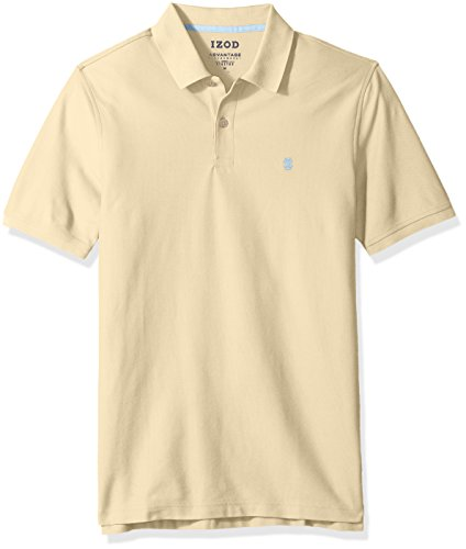IZOD Men's Advantage Performance Solid Polo, New Sundress, Large