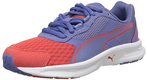 Puma Descendant V3, Jungen Sneakers Pink (cayenne/bleached Denim/cayenne)