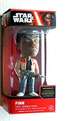 Star Wars THE FORCE AWAKENS Finn Bobble-Head DAM - Factory Sealed and UNCIRCULATED - Display box has one dent/tear see the photos.